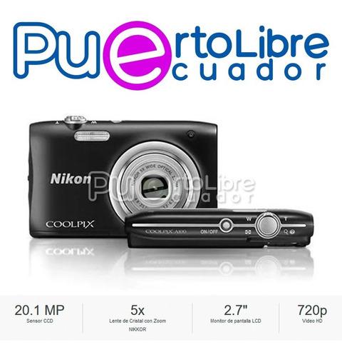 nikon camara a100 20.1mp = sony w800 - 5x zoom + bateria !