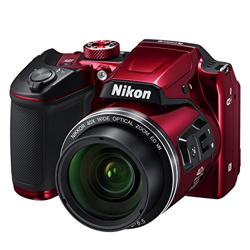 nikon cámara digital coolpix b500 (rojo)