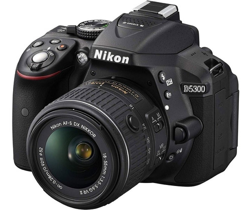 nikon cámara profesional d5300 + 18-55mm 24.2 mp wifi gps