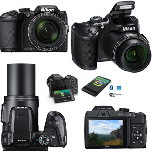 nikon® coolpix b500 zoom 40 x wifi bluetooth video full hd