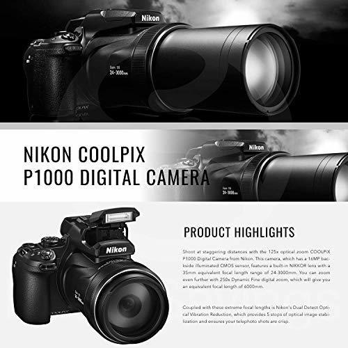 nikon coolpix p1000 167 camara digital con wifi integrado y