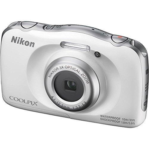 nikon coolpix w100 cámara digital 132mp 1080p con lente zoom
