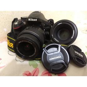 Nikon D 5200 Excelente Estado De Funciomento  + Lentes