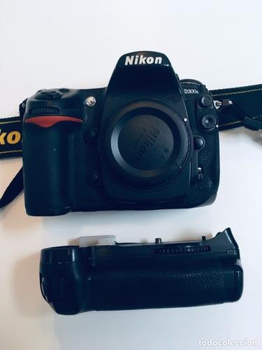 nikon d300s cámara dslr grip mb100 bateria cargador caja etc