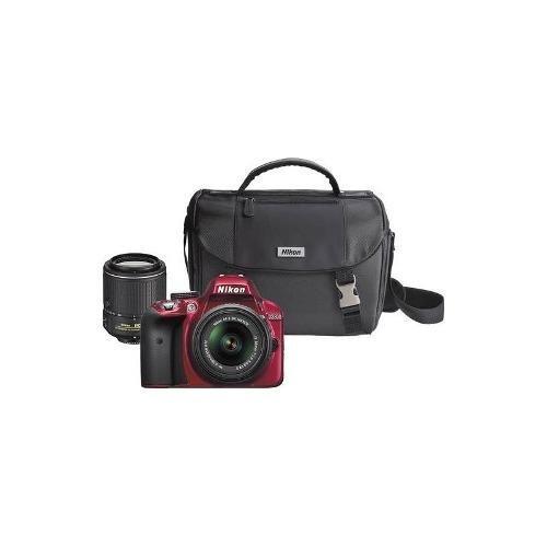 nikon - d3300 dslr con lentes de 18-55mm vr ii y 55-200 mm v