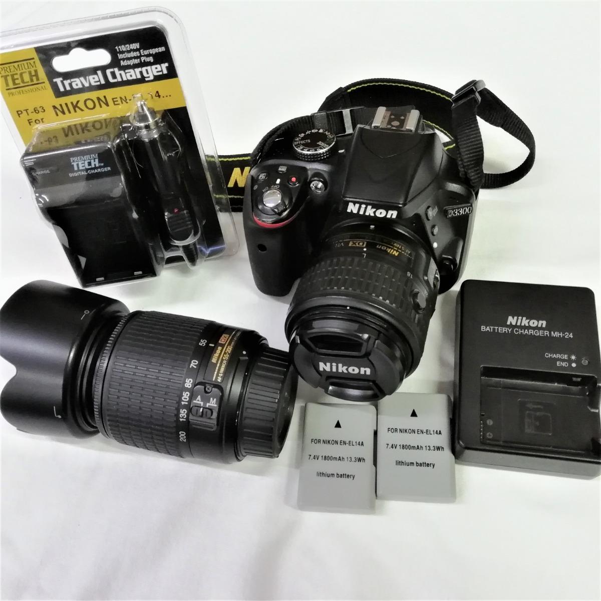 Nikon D3300 Kit De Dslr Con 18 55 Mm Dx Vr Ii Y 200 55mm Cargando Zoom