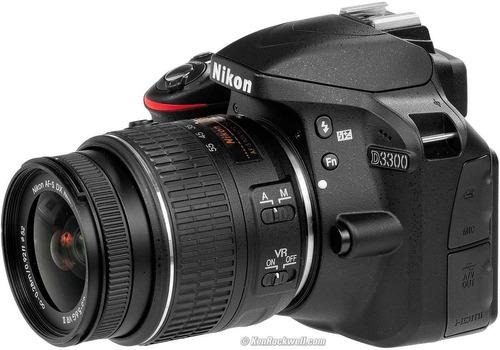nikon d3300 lente 18-55mm dx vr2 + 16gb + c. remoto + filtro