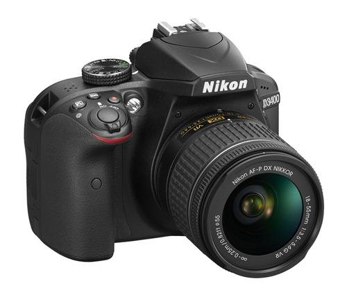 nikon d3400 18-55mm af-p tripode 1,50mts+ 16gb+ bolso+ gtia!