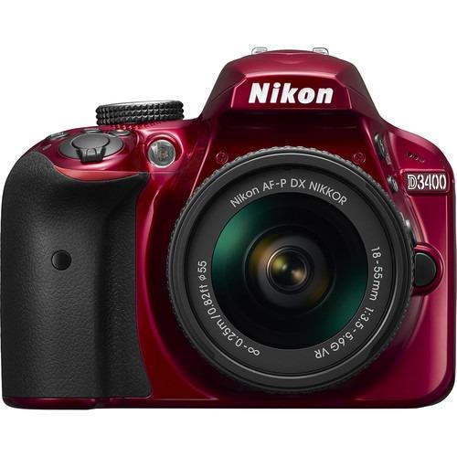 nikon d3400 24.2mp cmos, lente af-p 18-55mm  vr.  r y m