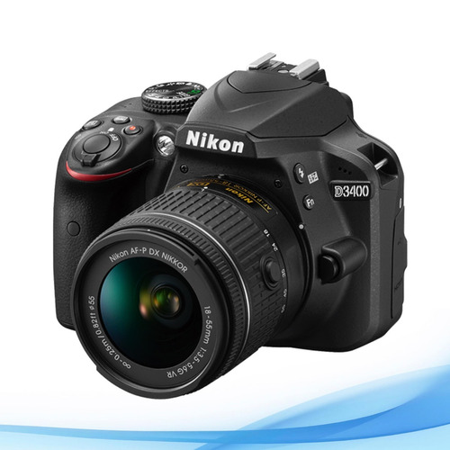 nikon d3400 kit 18-55 24mp bluetooth full hd nueva reflex