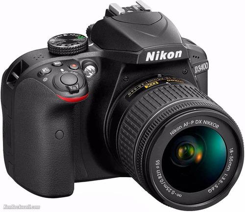 nikon d3400 preta 24.2 mp + lente af-p dx nikkor