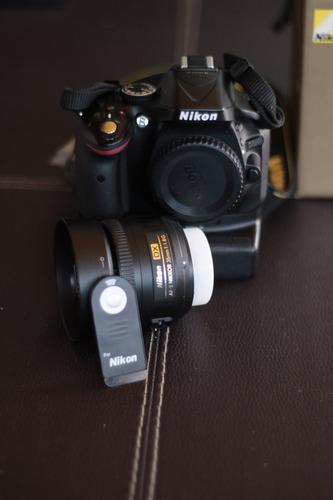 nikon d5200 con 35mm f.1.8 y accesorios