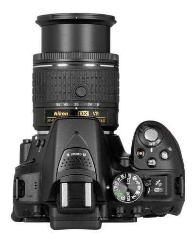 nikon d5300 18-55mm+ 32gb+ bolsa+ mini tripé