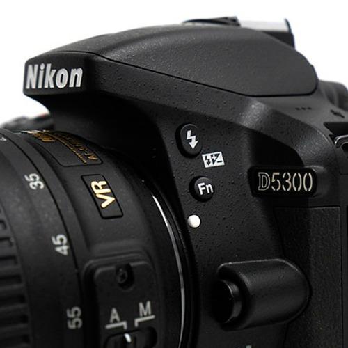 nikon d5300 full kit 18-55 camara reflex wifi + 32gb +bolso