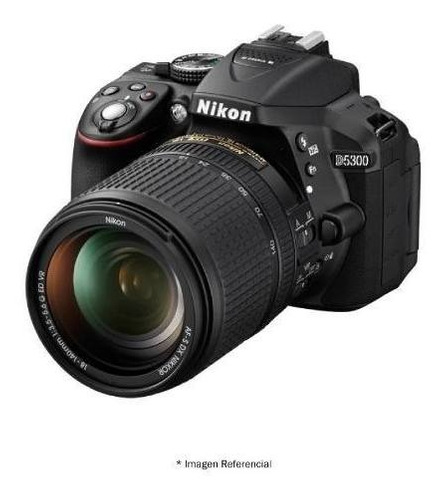 nikon d5300 profesional 24.2mp lente 18-55mm gps