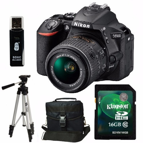 nikon d5500 kit 18-55mm af-p +trípode+ sd 16gb+ bolso+ envio