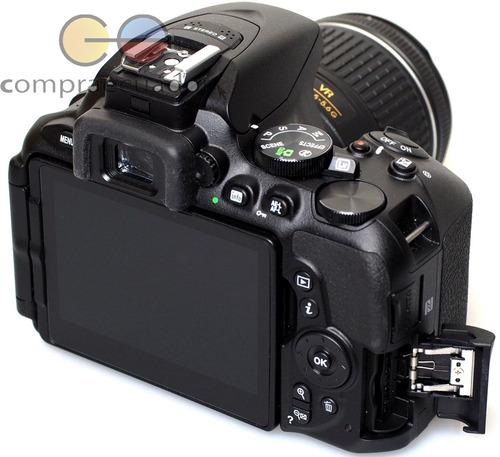 nikon d5600 cámara profesional 24.2mp fullhd + lente 18-55mm