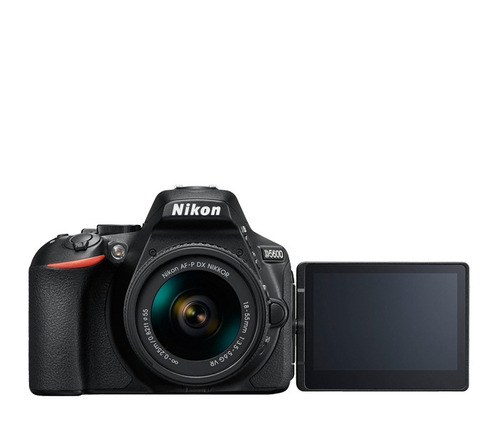 nikon d5600 con a-fp 18-55 f/3.5-5.6g vr + sd 16gb clase 10.