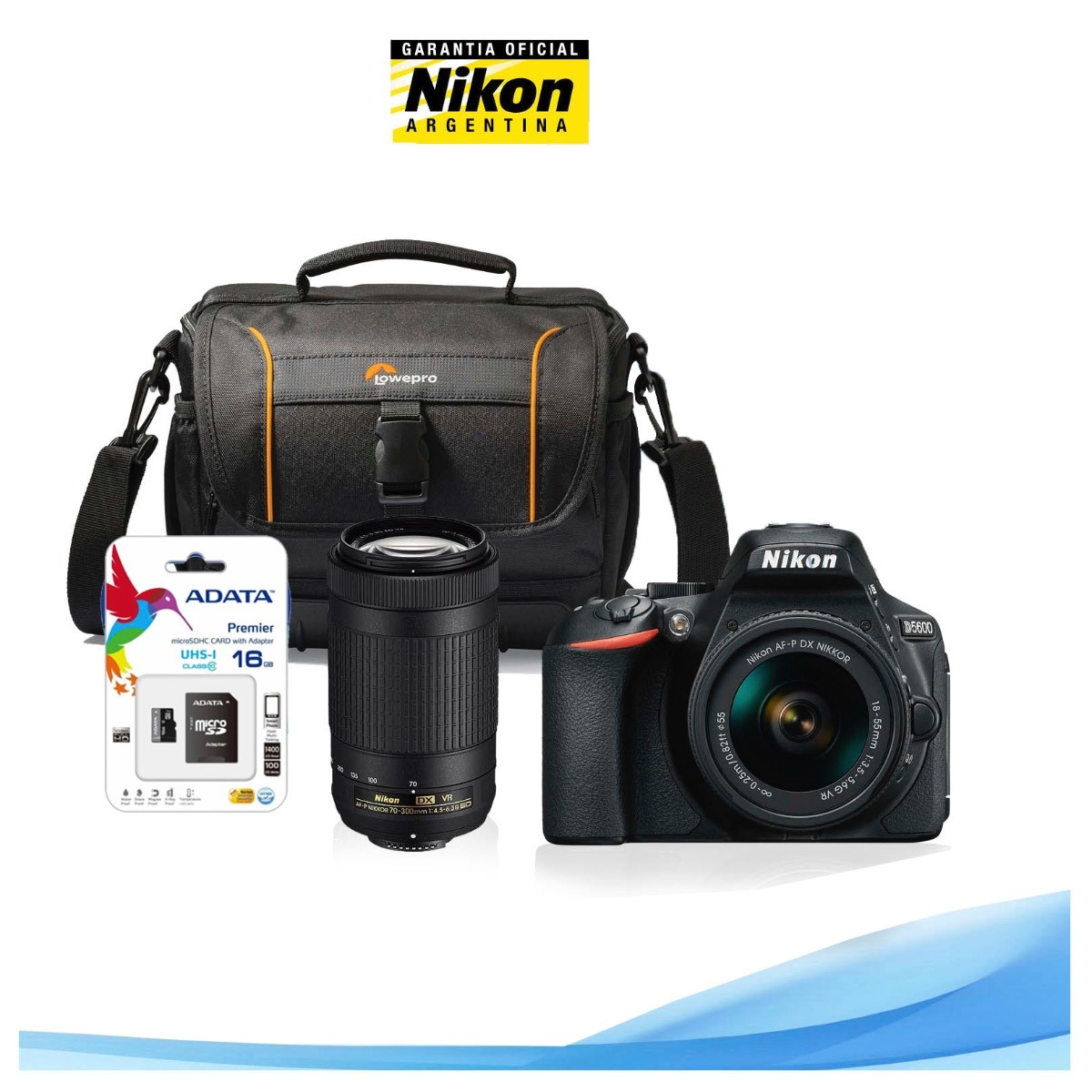 Nikon D5600 Kit 18 55 70 300 Bolso Memoria 16gb 5722800 En 55mm Vr Cargando Zoom