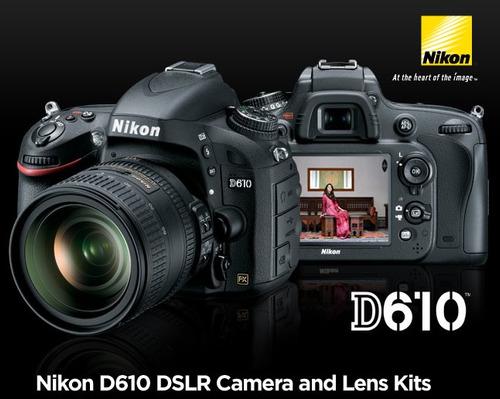 nikon d610 digital slr camera 7 lens 24-85mm 70-300mm 32gb