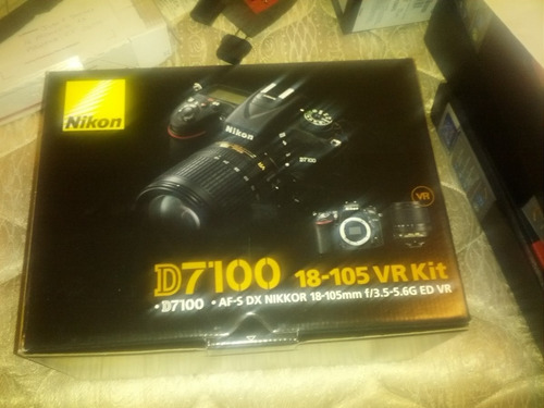 nikon d7100 18-105mm kit 100% nuevo,24.1 mp,stock!!
