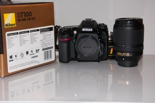 nikon d7100 con lente nikon dx 18-140mm - casi sin uso.