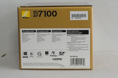 nikon d7100 cuerpo 100% nuevo en caja,24.1 mp, en stock!!