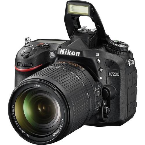 nikon d7200 cámara +lente 18-140 + tripode + 64gb + bolso