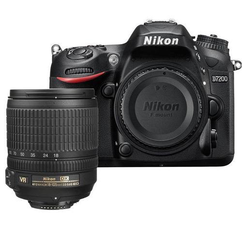 nikon d7200  dx-format cmos sensor digital slr + 18-105 vr