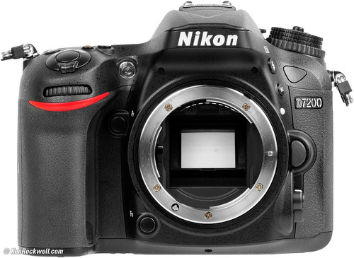 nikon d7200 sólo cuerpo incluye memoria 64gb + bolso