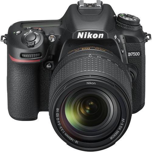 nikon d7500 + 18-140mm 4k wi-fi + 32gb + bolsa + tripé novo
