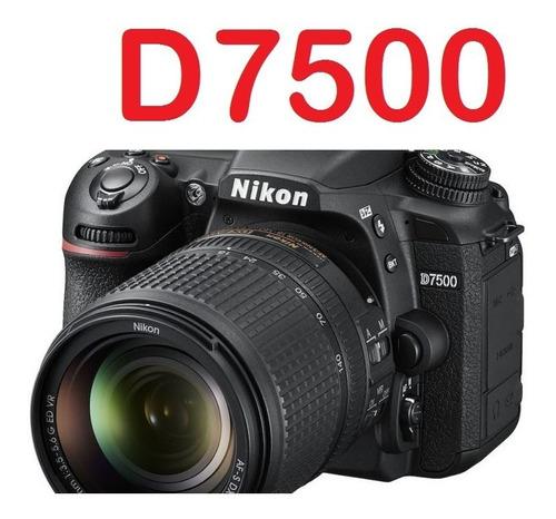 nikon d7500 video 4k !! + lente 18-140mm + estuche