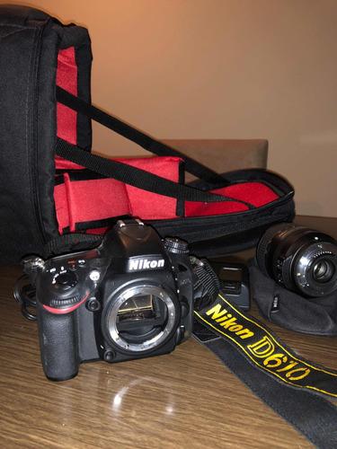 nikon dslr d610 24.3mp-full frame + lente 24-85mm 1:3.5-4.5