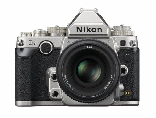 nikon dslr df 50 mm f / 1,8 g dflksl kit de plata edición