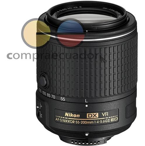 nikon lente 55-200mm f/4-5.6 gii vr original