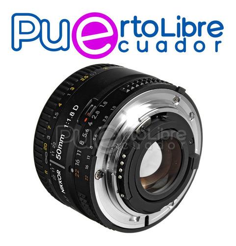 nikon lente af nikkor 50mm f/1.8d + g r a t i s memoria 32gb