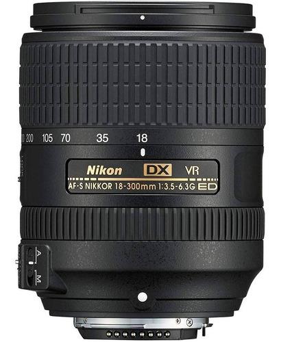 nikon teleobjetivo 18-300mm f/3.5-6.3g ed vr af-s dx nikkor