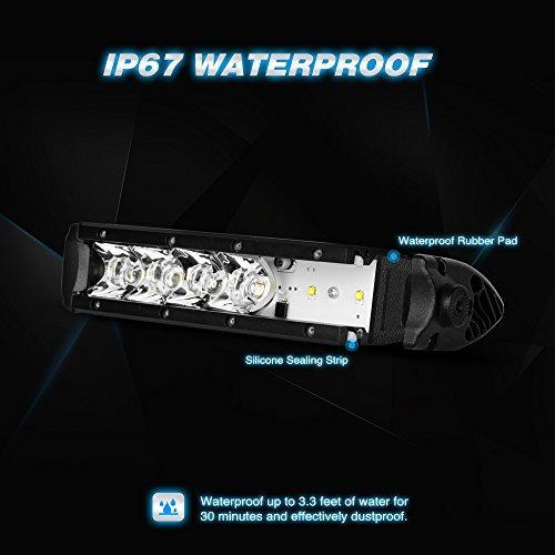 nilight led light bar super slim 2pcs 7 pulgadas 30w punto d