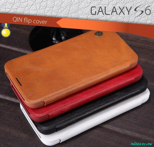 nillkin qin galaxy s6 - flip cover cuero samsung case