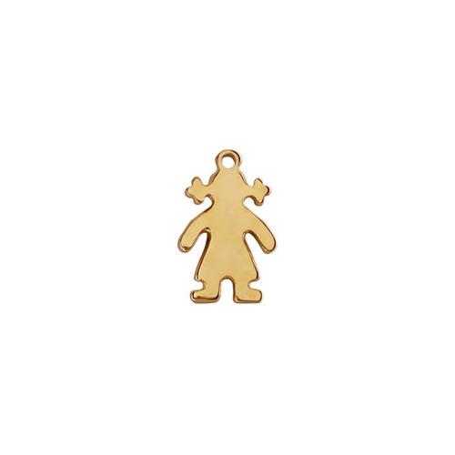 niña con cadena ancla chapa de oro 22 kilates
