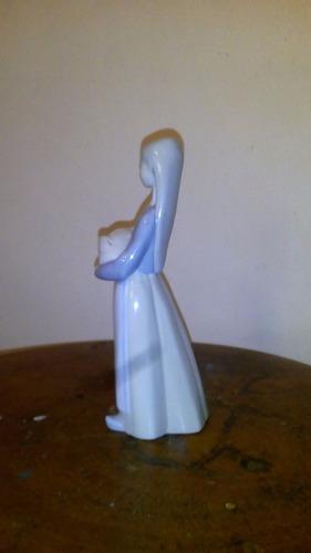 niña con cerdito 00011011 porcelana lladró