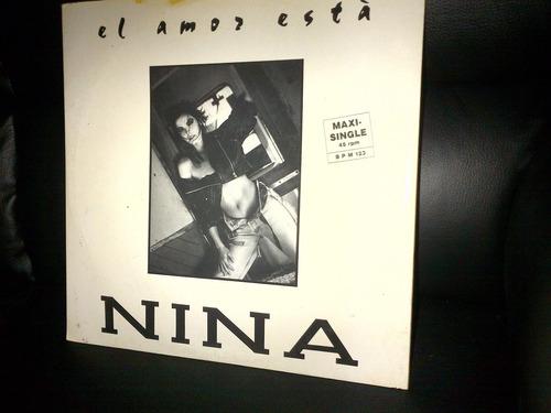 nina - love is in the air (el amor està) dance 90 vinyl maxi