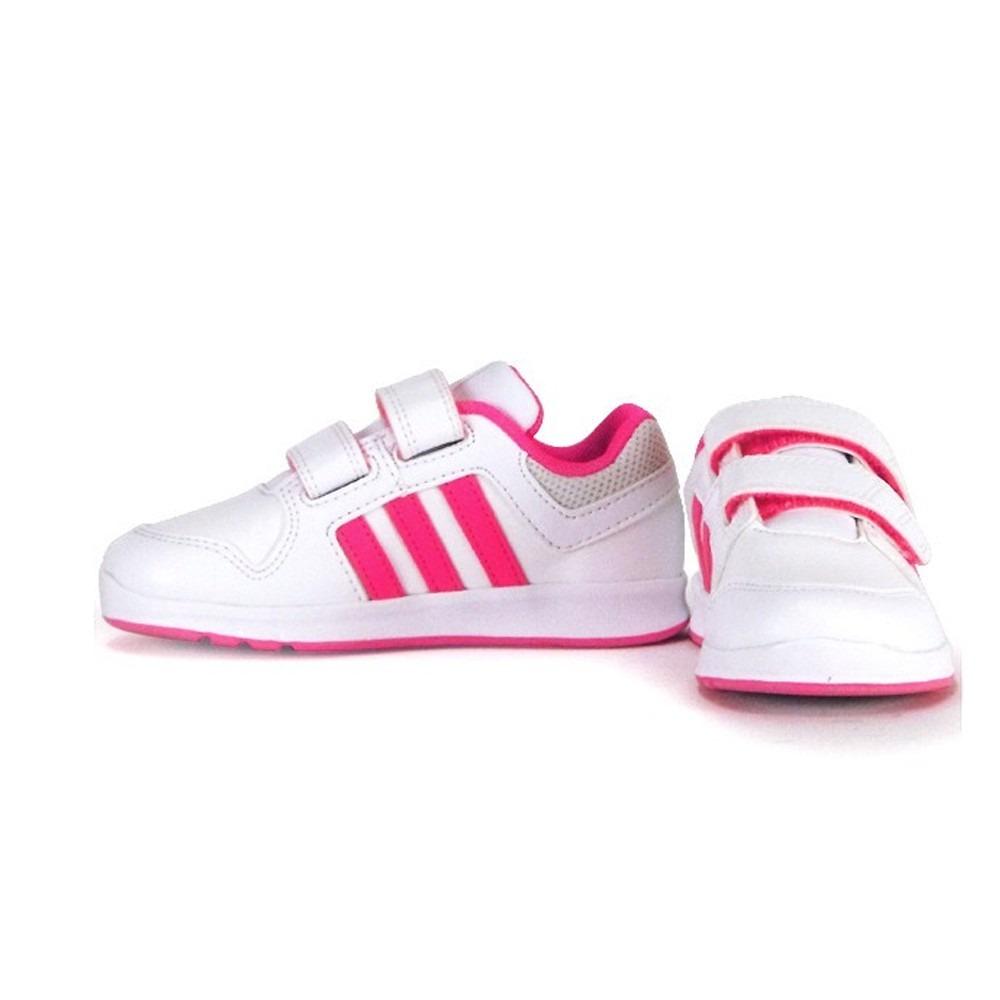 new arrival fda41 d3dbb niña tenis adidas neo lk trainer 6 cf blanco y rosa intenso. Cargando zoom.