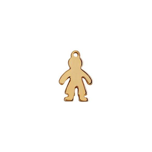 niña y niño liso y cadena  en chapa de oro 22 kilates
