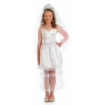Princess Bride Costume - Chicas Xl 10-12 Años White Wedding