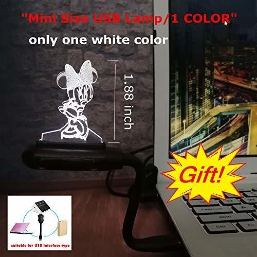 niñas de dibujos animados mickey minnie mouse mouse 3d luz
