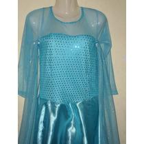 Vestido Disfraz Elsa De La Película Frozen