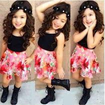 Faldas Corte Princesa Plato Conjunto Moda Blusa Estampado