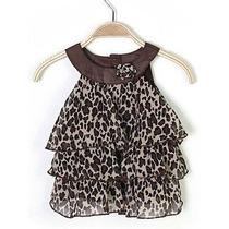 Hermoso Vestido Casual Para Niña Animal Print 0 A 3 Meses