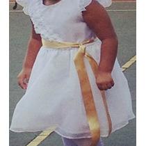 Hermoso Vestido De Niña Blanco Comunion O Bautizo Talla 8